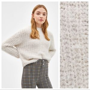 NWT. Bershka Chunky Knit Fuzzy Sweater. Size XS.
